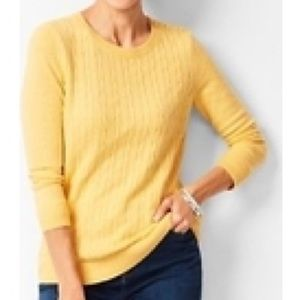 Talbots • Lambswool blend cable knit sweater